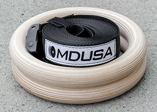 MDUSA-Wood-Gymnastic-Olympic-Rings-for-Crossfit-Pair-Free-Shipping-Lifetime-Warranty-Standard-125in-0